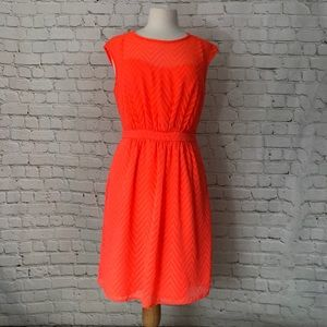 J Crew Sundress Size 10 Bright Coral Orange